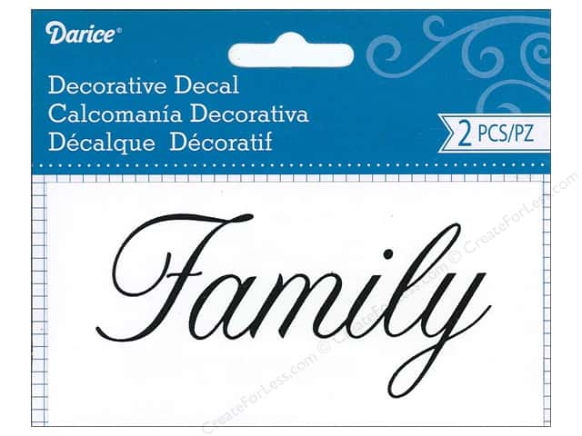 Darice Decorative Decal 2 1/4 x 4 1/2 in. Family 2 pc.