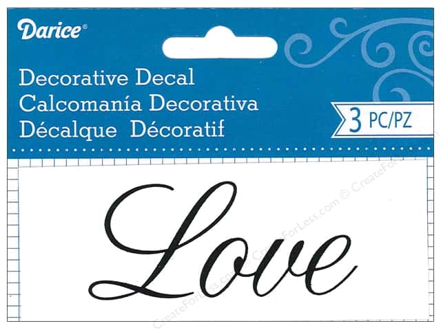 Darice Decorative Decal 1 3/4 x 4 1/2 in. Love 3 pc.