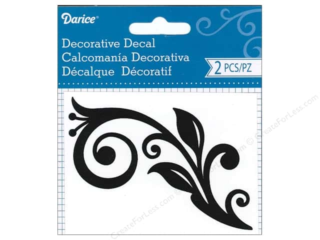 Darice Decorative Decal 3 x 4 in. Flourish Vine 2 pc.