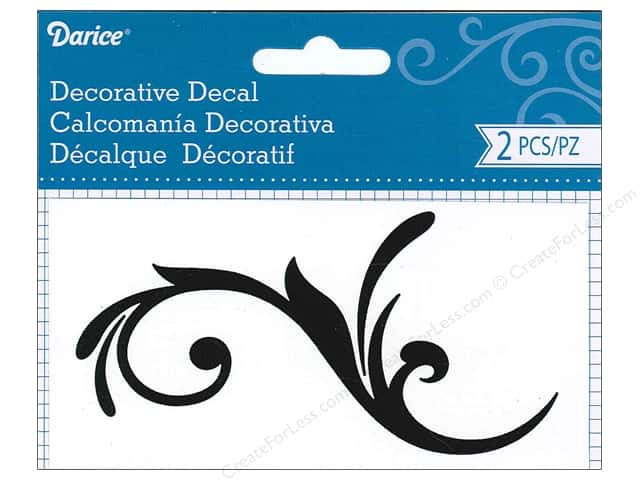 Darice Decorative Decal 2 1/2 x 5 in. Flourish Vine 2 pc.