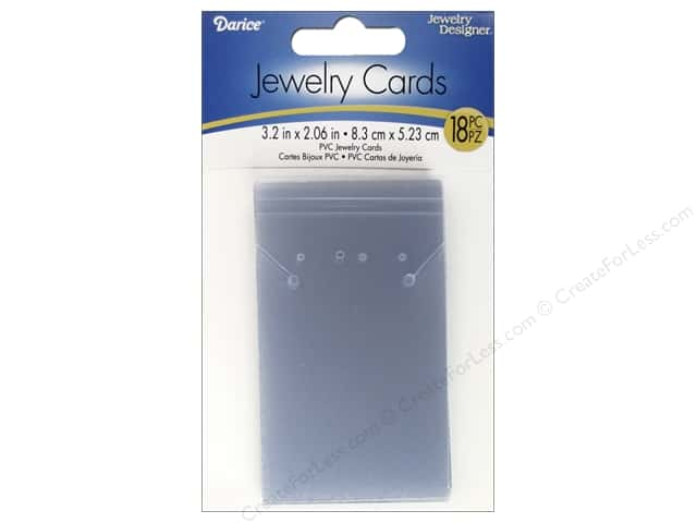 "Darice Jewelry Display Card Plastic 3.2""x 2.06"" Clear 18pc"