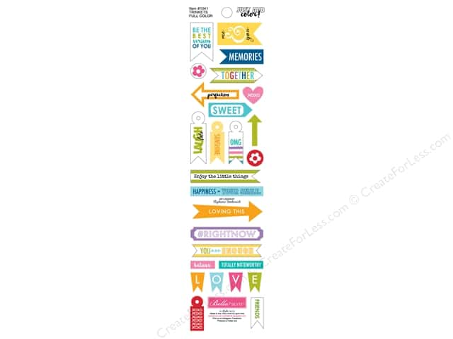 Bella Blvd Stickers Just Add Color Trinkets Color (12 sets)