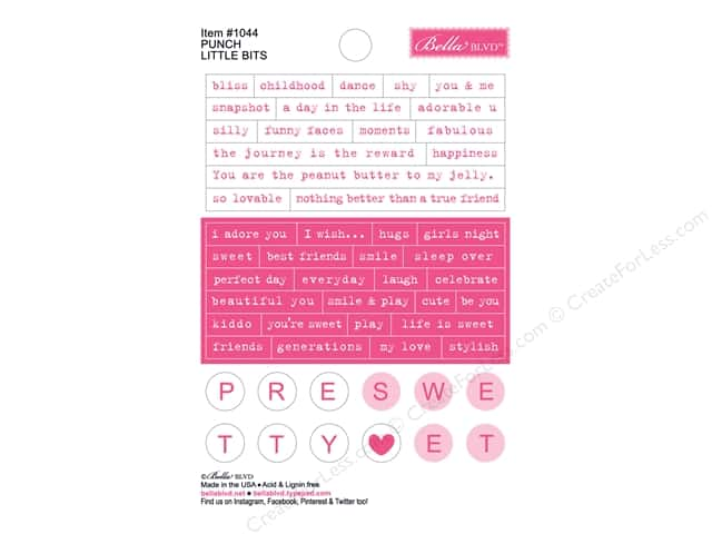 Bella Blvd Stickers Just Add Color Little Bits Punch (12 sets)
