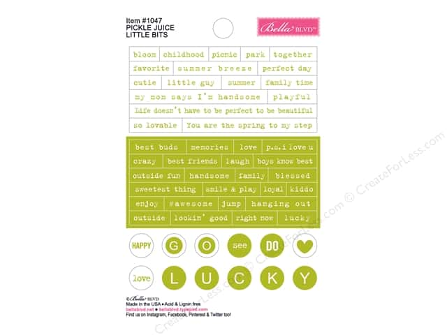 Bella Blvd Stickers Just Add Color Little Bits Pickle Juice (12 sets)