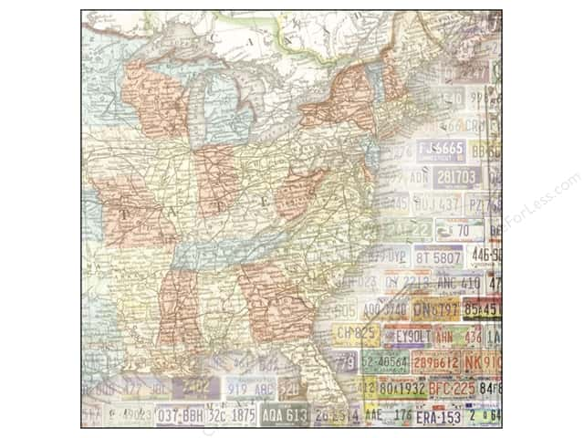Paper House 12 x 12 in. Paper US Travel Map East (25 sheets)