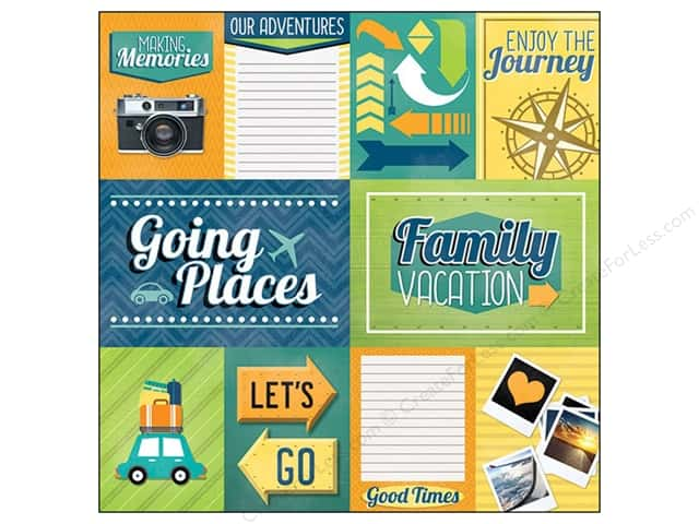 Paper House 12 x 12 in. Paper Family Vacation Tags (25 sheets)