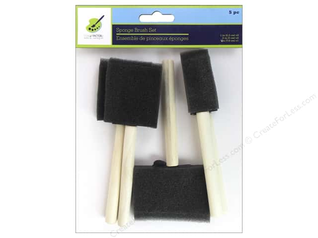 "Multicraft Tools Sponge Brush Set  1"", 2"", 3"" 5pc"