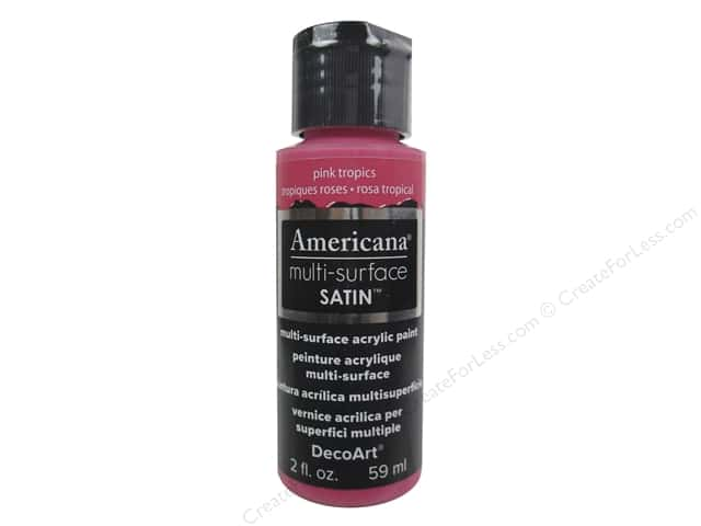 DecoArt Americana Multi-Surface Satin 2 oz.Pink Tropics