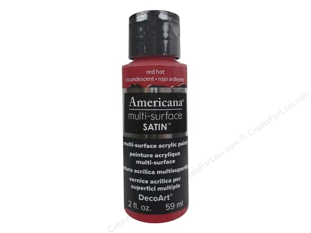 DecoArt Americana Multi-Surface Satin 2 oz. Red Hot
