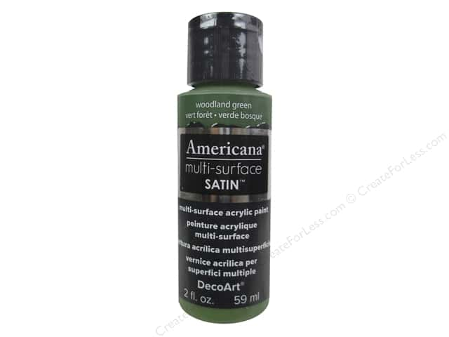 DecoArt Americana Multi-Surface Satin 2 oz. Woodland Green