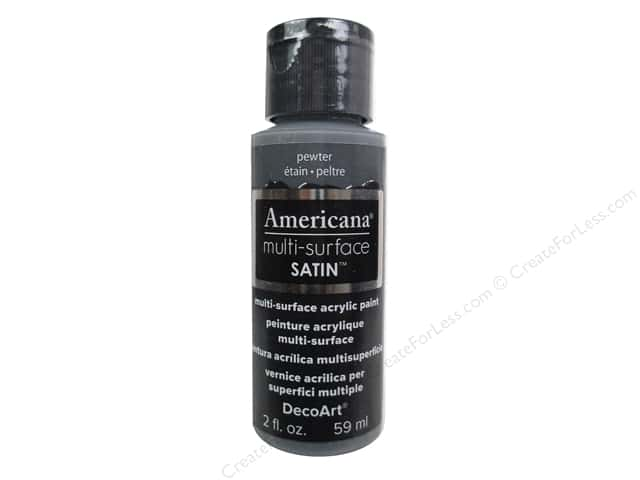 DecoArt Americana Multi-Surface Satin 2 oz. Pewter
