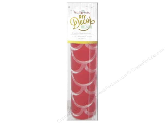 Hazel & Ruby DIY Decor Tape 8 in. Red Scallops