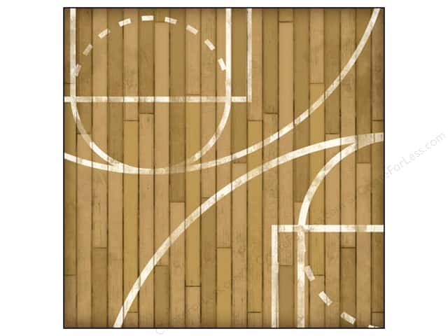 Karen Foster Paper 12 x 12 in. Basketball Courtside (25 sheets)