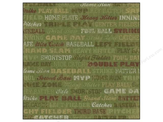 Karen Foster Paper 12 x 12 in. Baseball Grand Slam (25 sheets)