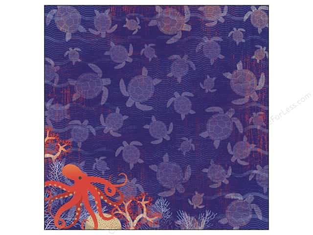 Karen Foster Paper 12 x 12 in. Sea Turtles (25 sheets)