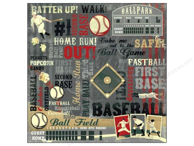 Karen Foster Paper 12 x 12 in. Baseball/Softball Batter Up (25 sheets)