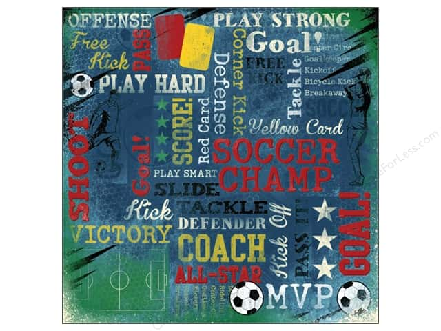 Karen Foster Paper 12 x 12 in. Soccer Champ (25 sheets)