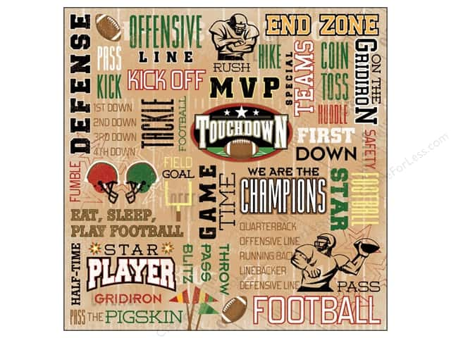 Karen Foster Paper 12 x 12 in. Football Touchdown (25 sheets)