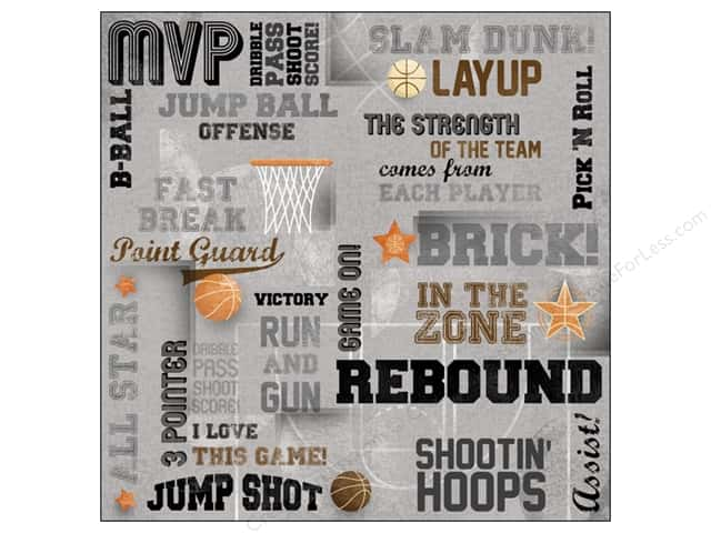 Karen Foster Paper 12 x 12 in. Basketball Slam Dunk (25 sheets)