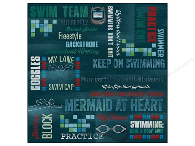 Karen Foster Paper 12 x 12 in. Swimming Swim On (25 sheets)