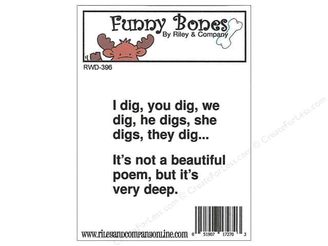 Riley & Company Cling Stamps Funny Bones I Dig