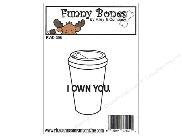 Riley & Company Cling Stamps Funny Bones I Own You