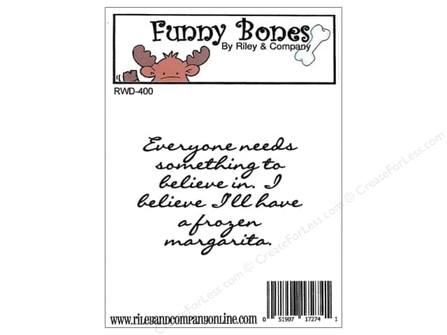 Riley & Company Cling Stamps Funny Bones Frozen Margarita