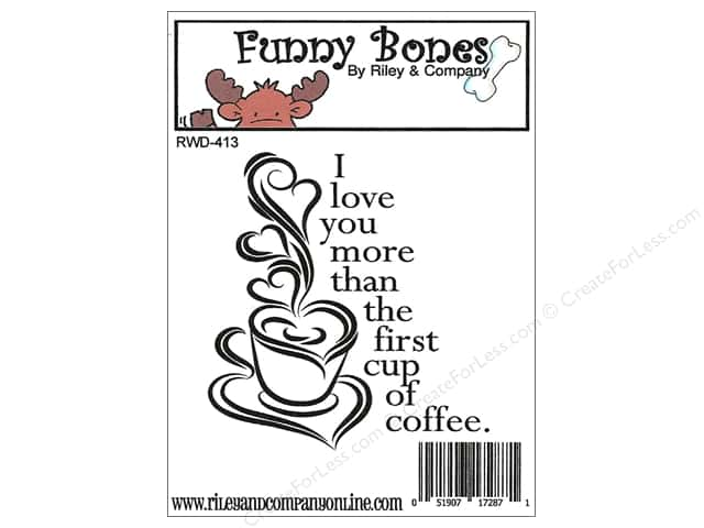 Riley & Company Cling Stamps Funny Bones I Love You More Than