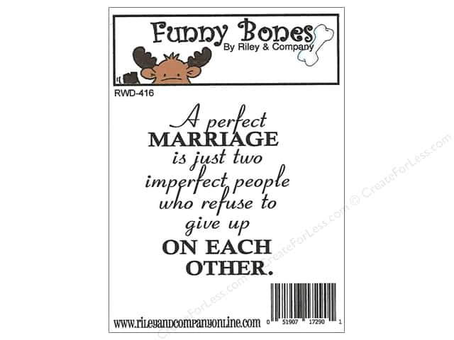 Riley & Company Cling Stamps Funny Bones A Perfect Marriage