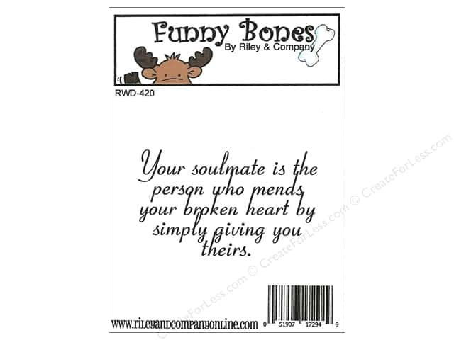 Riley & Company Cling Stamps Funny Bones Your Soulmate