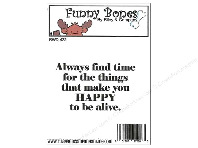 Riley & Company Cling Stamps Funny Bones Happy To Be Alive