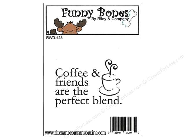 Riley & Company Cling Stamps Funny Bones Coffee & Friends