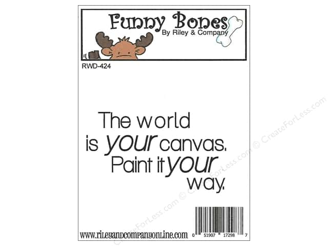 Riley & Company Cling Stamps Funny Bones World Is Your Canvas