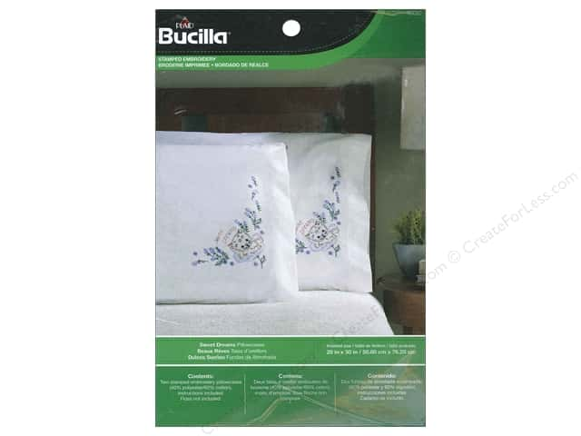 Bucilla Stamped Embroidery Pillowcase Sweet Dreams
