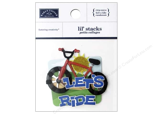 Karen Foster Sticker Lil Stack Let's Ride