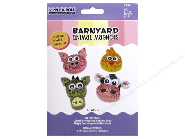 Quilled Creations Quilling Kit Animal Magnet Barnyard