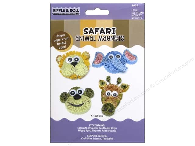 Quilled Creations Quilling Kit Animal Magnet Safari