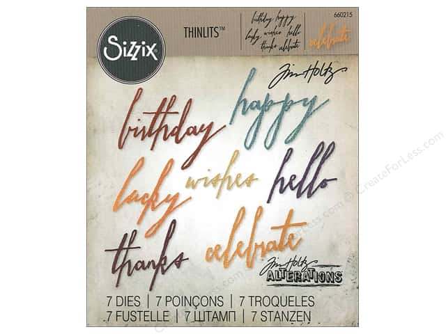Sizzix Thinlits Die Set 7 pc. Handwritten Celebrate