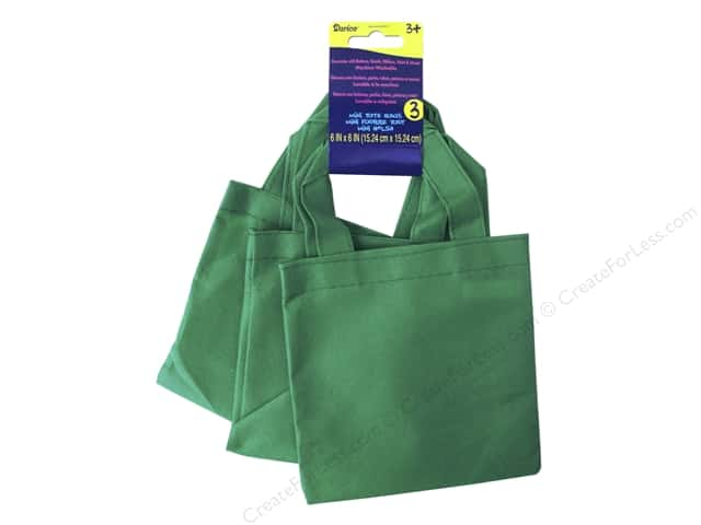 "Darice Tote Bag Mini 6""x 6"" Non Woven Kelly 3pc"