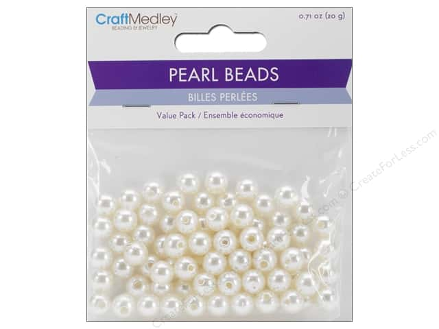 Multicraft Bead Pearl 8mm Ivory 80 pc.