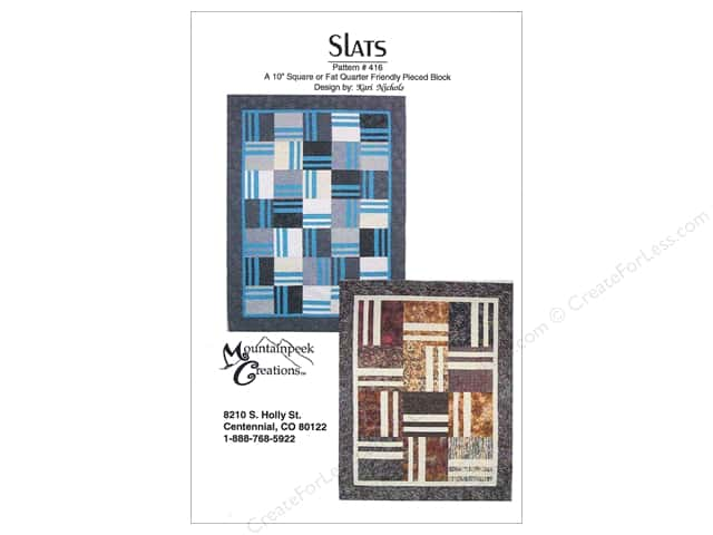 Mountainpeek Creations Slats Pattern