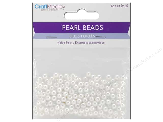 Multicraft Bead Pearl 5mm White 265 pc.