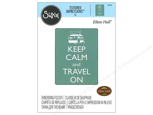 Sizzix Textured Impressions Embossing Folders 1 pc. Keep Calm And Travel On