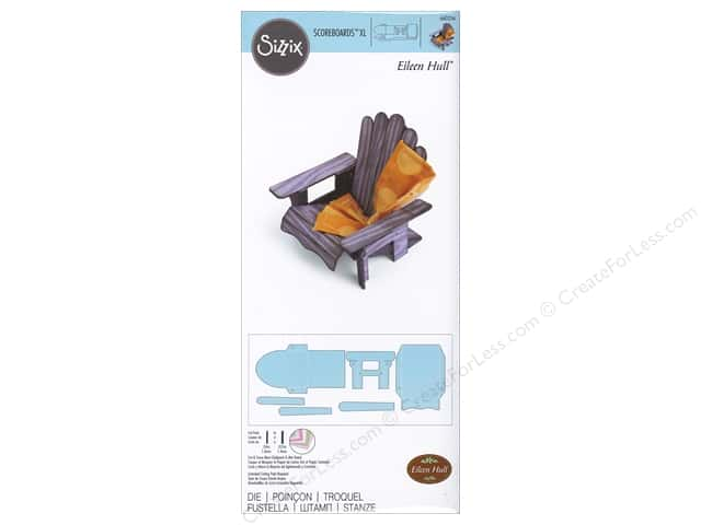 Sizzix Scoreboards Dies XL 3D Adirondack Chair by Eileen Hull