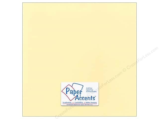 Paper Accents Cardstock 12 x 12 in. #18013 Smooth Butter Cream (25 sheets)