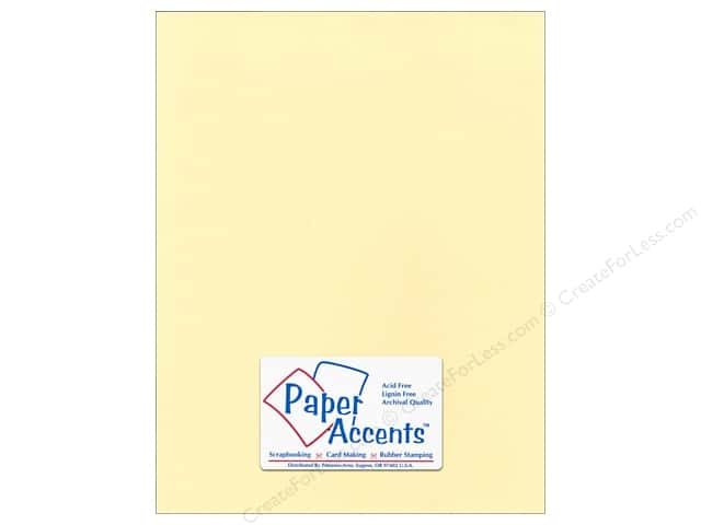 Cardstock 8 1/2 x 11 in. Smooth Butter Cream by Paper Accents (25 sheets)