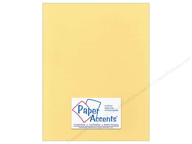 Cardstock 8 1/2 x 11 in. Smooth Candlelight Sky by Paper Accents (25 sheets)