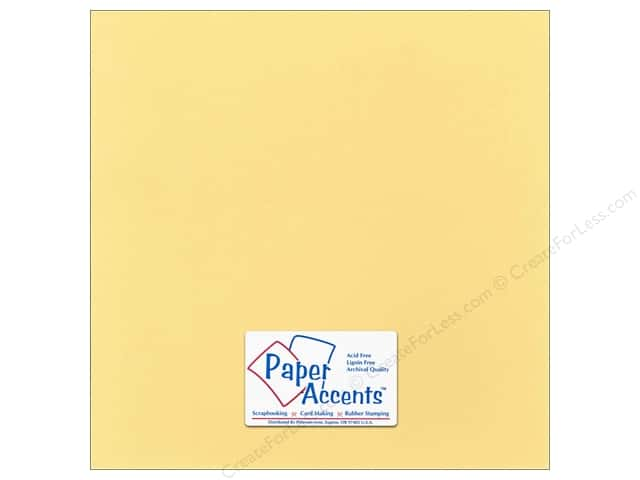 Paper Accents Cardstock 12 x 12 in. #18014 Smooth Candlelight (25 sheets)