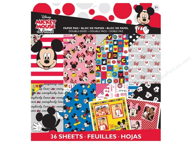 EK Disney 12 x 12 in. Paper Pad Mickey Friends