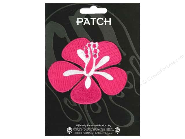 C&D Visionary Applique Red Hibiscus